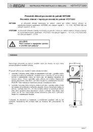 REGIN – Převodník vlhkosti HDT3200 – instrukce pro ... - Marcomplet