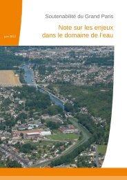 Note sur les enjeux dans le domaine de l'eau - DRIEE Ile-de-France