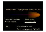 Multivariate Cryptography on Smart Cards