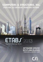 ETABS 2013 Betonarme Çerçeve Boyutlama Klavuzu TS500-2000 ...
