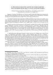 relazione del Procuratore Generale - Confederazione dell'Oratorio ...