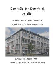 Studienstart an der Fakultät für Sozialwissenschaften - Evangelische ...