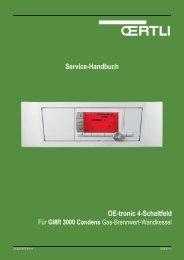 Service-Handbuch OE-tronic 4-Schaltfeld - Oertli
