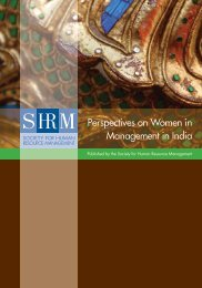 Perspectives on Women in Management in India - Society for ...