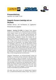 Pressemitteilung Zeppelin Konzern beteiligt sich an SkySails