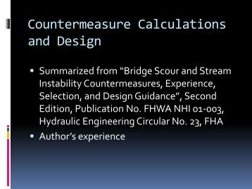 Countermeasure Calculations and Design