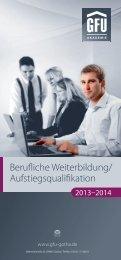Berufliche Weiterbildung/ Aufstiegsqualifikation - GFU Institut für ...