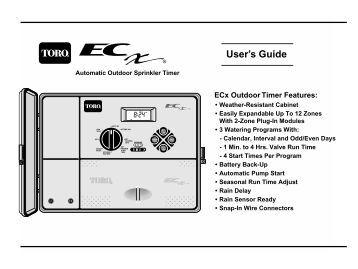 Toro EC-X Automatci Sprinkler System Timer