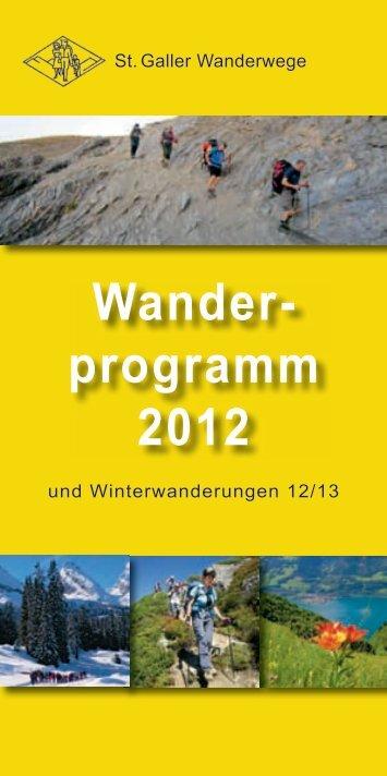 Wander- programm 2012 - St. Galler Wanderwege