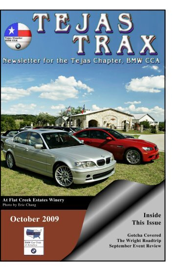 October 2009 - the Tejas Chapter, BMW CCA