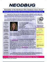 February, 2011 Newsletter - neodbug