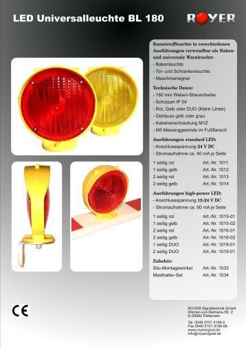 Warnleuchte BL 180 - Royer Signaltechnik GmbH