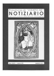 Notiziario - Provincia di Cristo Re dei Frati Minori dell'Emilia Romagna