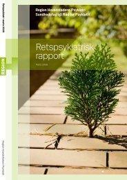 Retspsykiatrisk rapport - Region Hovedstaden
