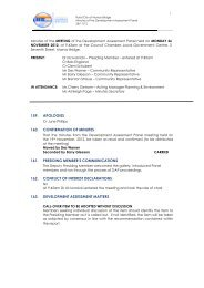 Development Assessment Panel Special Meeting Minutes 26