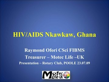 Moteclife_HIV_Presentation1[1] - MOTEC LIFE-UK