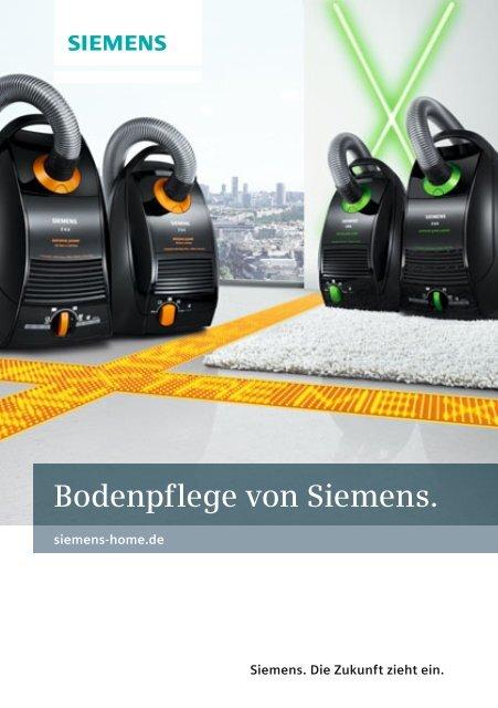 Bodenpflege von Siemens. - Siemens Hausgeräte