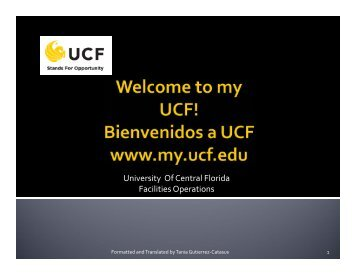 MyUCF. - UCF Resource Management