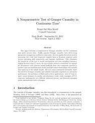 A Nonparametric Test of Granger Causality in Continuous Time