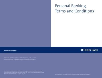 Personal Banking Terms and Conditions - Ulster Bank