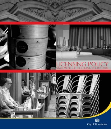 Statement of Licensing Policy (2008) WCC - Westminster City Council