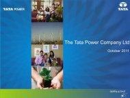 Investor Presentation October 2011 - Tata Power