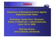 Risk assessment botanicals semiochemicals Ehlers - REBECA