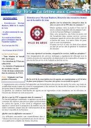 TE VE'A n° 23 - Avril 2011.pdf - Haut-Commissariat de la république ...