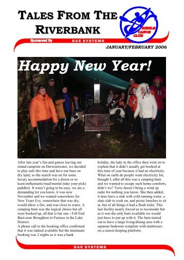 January 2006 newsletter sanitised - Ribble Canoe Club