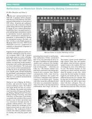 Reflections on Montclair State University–Beijing Connection - GK-12