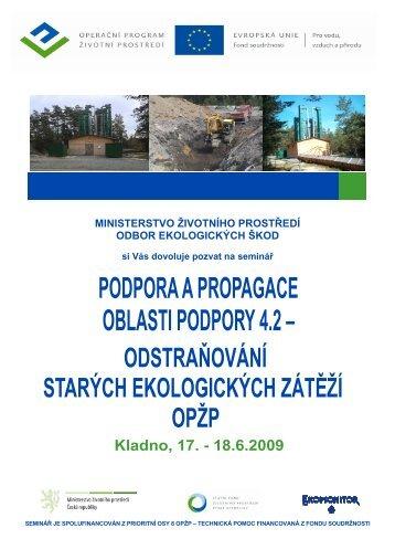 Pozvánka Kladno 17. - Státní fond životního prostředí