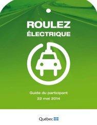 Guide détaillé du participant - Véhicules électriques - Gouvernement ...