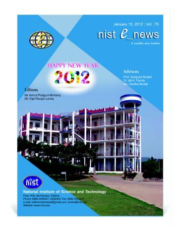 NIST e-NEWS(Vol 79, January 15, 2012)