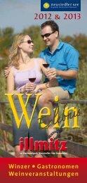 Download Prospekt WEINERLEBNIS ILLMITZ - Weinbau ...