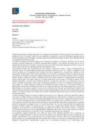 EXPOSITION TEMPORAIRE NOTICES DES OBJETS N°1-002 ...