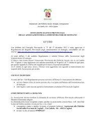 Avviso x Associazioni - Sociale - Provincia di Cagliari