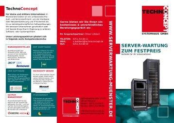 Server-warTUnG zUm FeSTPreIS - Technoconcept
