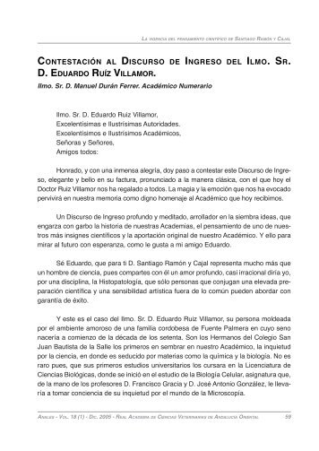 contestación al discurso de ingreso del ilmo. sr. d. eduardo ruíz ...