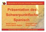 Präsentation des Schwerpunktfachs Spanisch