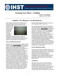 Training Fact Sheet - Visibility