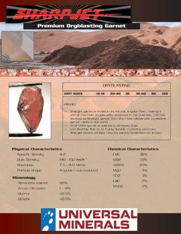 Sandblasting Flyer (PDF) - Universal Minerals, Inc.