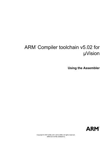 arm® compiler toolchain v5.02 for µvision using the assembler.pdf