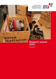 1 Rapport annuel 2010 - IV-Stellen-Konferenz IVSK