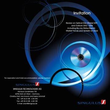 Invitation - Singulus Technologies AG