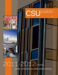 2011/2012 Catalog - Colorado State University-Pueblo