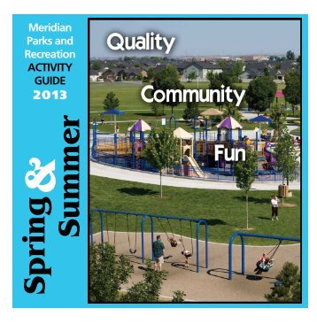Meridian Parks and Recreation Activity Guide - City of Meridian