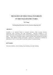 mechanics of structural instability in thin-walled structures