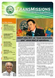 in this issue... - National Grid Corporation of the Philippines