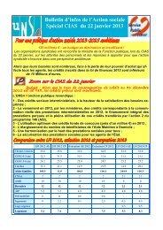 Action sociale CIAS du 22 janvier 2013 - UNSA-Itefa
