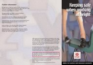 Keeping safe when working at height - advice for teachers ... - HSE